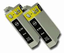 2 Black Compatible Non-OEM T0791 'Owl' Ink Cartridge with Epson Stylus PX730WD
