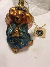 Boyds Bears Celeste Goodnight Bear Angel Glass Ornament Christmas