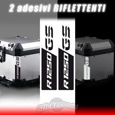 2 adesivi BMW R 1250 GS riflettenti stickers BAULETTO GS reflektive