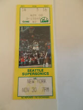 Seattle Supersonics New York Knicks 11-30-89 Ticket Stub SK3