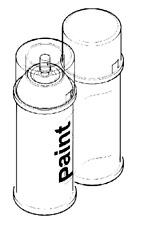 VAUXHALL SPRAY CAN - GENUINE NEW - PAINT CODE 22T - DARK INK