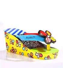 Romero Britto Flipflop Mini Shoe Figurine Mini Shoe Collection with Shoe Box NEW