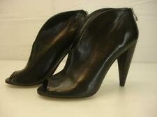 Women's 8.5 B M Vince Camuto Amber Black Leather Booties Peep Toe Boots Shooties