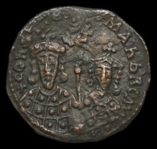 Constantine VII Porphyrogenitus, with Zoe. 913-959. Æ Follis