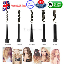 UK 5 in1 Led Interchangeable Hair Curler Iron Curling Wand Roller Set with glove