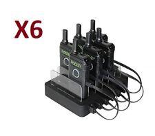 6 Blackbox Pocket UHF 16Ch 1.5W 2-Way Radio Multi-Unit Charger office warehouse