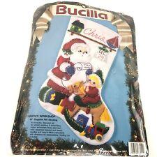 Bucilla Christmas Stocking Kit Santas Workshop 83010 Felt Applique NEW Sealed