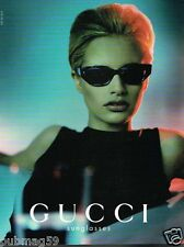 Publicité advertising 1998 Les Lunettes de Soleil Gucci