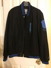 Men's Avirex  Nike Coat Size Large In Black & Blue ZIP & Button up