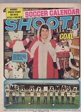 (-0-) RARE SHOOT! FOOTBALL CALENDAR PART 1 POSTER 28TH DECEMBER 1974 - UK  Comic