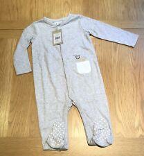 The Little White Company 🦁 Organic Cotton Lion Pocket Sleepsuit, 12-18 M - NWT