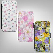 Floral Flower Pattern Print FLIP WALLET PHONE CASE COVER IPHONE SAMSUNG HUAWEI