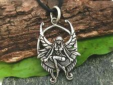 ELFE SUR BALANÇOIRE chaîne pendentif argent 925 fée fée avec collier femme