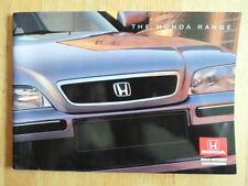 HONDA RANGE 1995-96 UK Mkt Brochure - NSX T Legend Prelude Accord CRX Civic