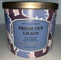 Bath & Body Works FRESH CUT LILACS 3 Wick Candle 14.5 Oz