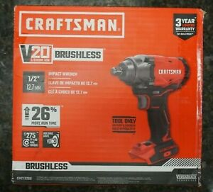 "*NEW* Craftsman CMCF920B 20V 1/2"" Brushless Impact Wrench Tool Only"