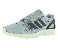 MENS LADIES ADIDAS ORIGINALS ZX FLUX WEAVE TORSION TRAINERS SILVER GREY /  BLACK