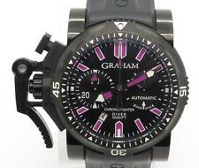 Graham ChronoFighter Oversize Diver 47mm Watch PVD W/ Box Papers