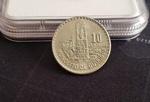 Guatemala 1971 10 Centavos Copper-Nickel Zinc Coin + UNC