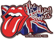 Rolling Stones Lick The Flag shaped sew-on / iron-on cloth patch   (ro)