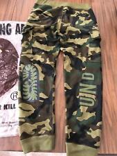 Bathing Ape Bape Pants Men's Woodland Camo Shark Slim Joggers Medium Size