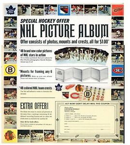 1- 11 x 13 full Page ad from the Canadian Weekly Magazine Ad for NHL Pic album