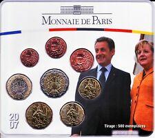 2007 plaquette BU Sarkozy-Merkel Rare.