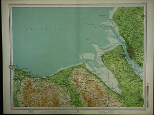 1903 MAP ~ LIVERPOOL DENBIGH LLANDUDNO ASAPH CHESTER BIRKENHEAD & VILLAGES