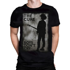Official T Shirt THE CURE- BOYS DON'T CRY B&W All Sizes Black Mens Licensed New