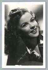 Shirley Temple~Beautiful Vintage Hollywood Actress Photo RPPC Americana~1940s