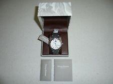 MENS TOMMY BAHAMA WHITE DIAL GRAY ROUGH LEATHER BAND WATCH - NWT