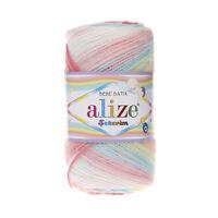 11 Colours - Alize Sekerim Baby Batik Yarn 100% Acrylic 100g knitting crochet