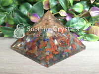 Orgone Pyramid Chakra with clear quartz pencil for Orgone Healing
