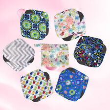 6PCS Small Reusable Bamboo Cloth Menstrual Sanitary Pad Panty Liner+1 WET Bag LJ