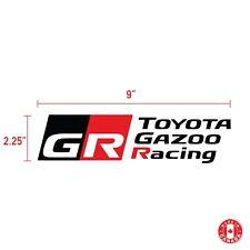 2X  TOYOTA GAZOO RACING GR sticker vinyl decal