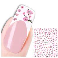 3D Nagel Sticker Blumen Blüten Aufkleber Nail Art New Design
