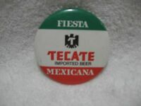 FIESTA TECATE IMPORTED BEER MEXICANA-Pinback Badge/Button-Brewerania Collectible