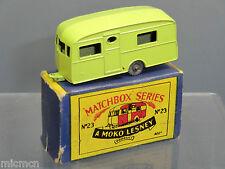 """MATCHBOX Lesney Moko modello No.23a """"Berkeley"""" Caravan Nuovo di zecca con scatola (LOTTO 3)"""