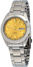 Seiko 5 SNKM63 Men's Stainless Steel Gold Dial Self Winding Automatic Watch