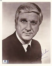 Leslie Nielsen Autographed/Signed 8x10 B&W Photo With Global COA-Naked Gun