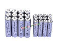 12 Aa 3000 Mah + 12 Aaa 1800mah 1.2 v Ni-mh Batería Recargable De 2a 3a Gris Celular