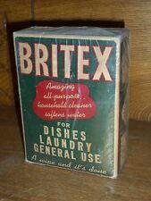 Vintage NEW OLD STOCK NIE GEÖFFNET Box-BRITEX Allzweck Haushalts Reiniger