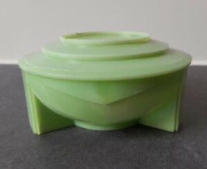 Vintage BAKELITE Dubarry Shaving Soap Dish Art Deco Mint Green 20's