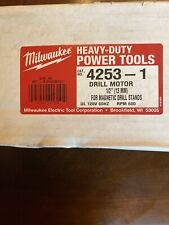 Milwaukee 4253-1 Drill Motor 1/2� For Magnetic Drill Stands New In Box