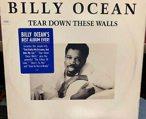 BILLY OCEAN TEAR DOWN THESE WALLS LP 1988 Inner DJ PROMO