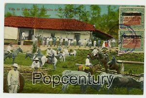 Nicaragua 1914 Postcard Managua Matagalpa Hacienda Vista de Campo Posted France