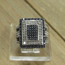 Vintage Sterling Silver Diamond Ring Size 8.25