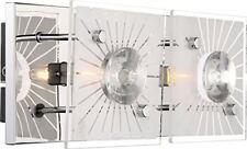 Globo Iolana 48691 2 Lampada parete da Faretto 2 flammig Vetro