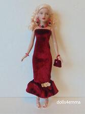 TINY KITTY CLOTHES Holiday DRESS, PURSE & JEWELRY handmade Fashion NO DOLL d4e