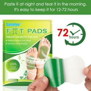 6PCS Old Beijing Detox Foot Pads Organic Ginger Wormwood Body Patch